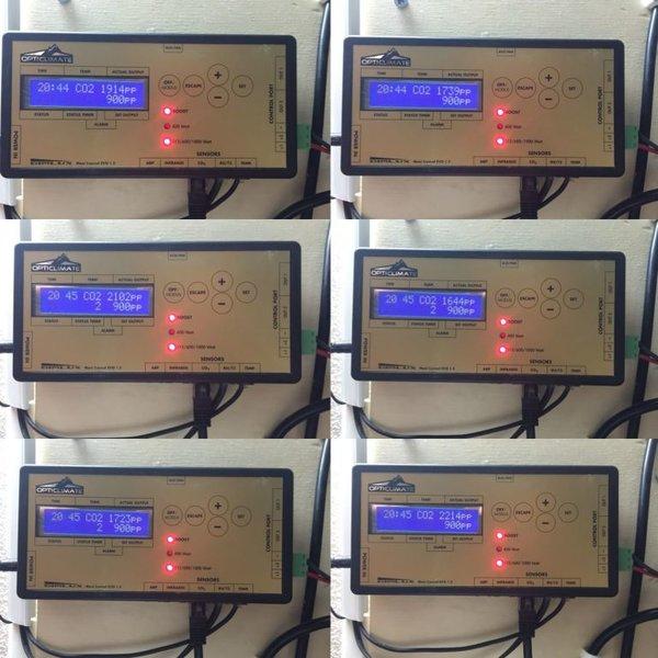 dimlux co2 sensor waarden licht aan