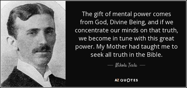 The gift Of mental power comes from God divine being
